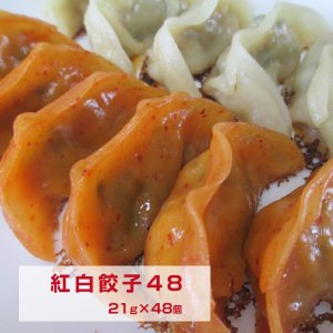 紅白餃子48 ギフト 御歳暮 お中元等の贈り物 kouhakugyoza