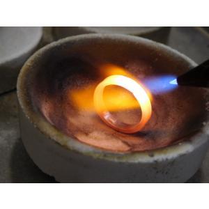 プラチナ 結婚指輪【本物の鍛造】2本の指輪を合わせると 可愛いミル打ちのハートに|kouki|15