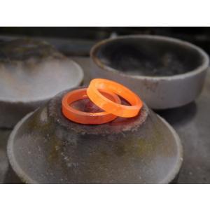 プラチナ 結婚指輪【本物の鍛造】2本の指輪を合わせると 可愛いミル打ちのハートに|kouki|16
