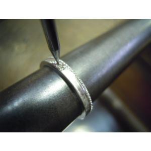 プラチナ 結婚指輪【本物の鍛造】2本の指輪を合わせると 可愛いミル打ちのハートに|kouki|20