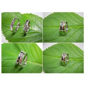 プラチナ 結婚指輪【本物の鍛造】2本の指輪を合わせると 可愛いミル打ちのハートに|kouki|05