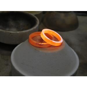 プラチナ 結婚指輪【本物の鍛造】ハートをミル打ちで囲んだ可愛いデザイン&指輪を重ねるとハートに|kouki|19