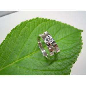 プラチナ 結婚指輪【本物の鍛造】ハートをミル打ちで囲んだ可愛いデザイン&指輪を重ねるとハートに|kouki|04