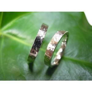 プラチナ 結婚指輪【本物の鍛造】打ち出した細かい槌目が美しい!ハンマリング技術を駆使した叩き出し|kouki|03