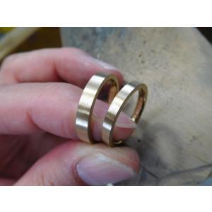 プラチナ結婚指輪(鍛造&彫金)光沢&艶消しコンビ 幸せの四葉のクローバー|kouki
