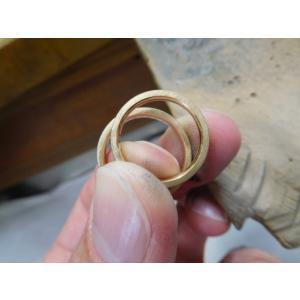 プラチナ結婚指輪(鍛造&彫金)光沢&艶消しコンビ 幸せの四葉のクローバー|kouki|04