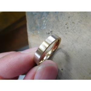 プラチナ結婚指輪(鍛造&彫金)光沢&艶消しコンビ 幸せの四葉のクローバー|kouki|06