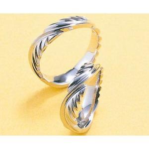 プラチナ結婚指輪(鍛造&彫金)光沢 Eagle Feather イーグルの羽&翼 インディアン kouki 03
