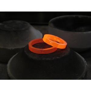 プラチナ 結婚指輪【本物の鍛造】細長いハートのデザイン 艶消し&光沢のコンビでハートが引き立つ!|kouki|20