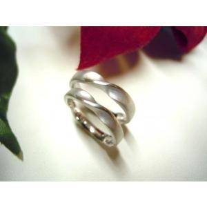 プラチナ結婚指輪(鍛造&彫金)光沢&マット メビウスリング&無限大リング|kouki