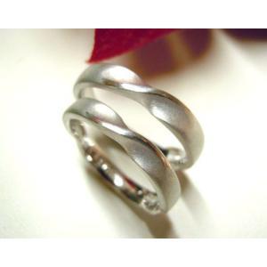 プラチナ結婚指輪(鍛造&彫金)光沢&マット メビウスリング&無限大リング|kouki|04