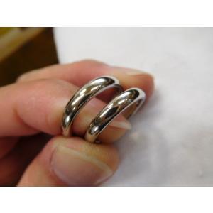 プラチナ結婚指輪(鍛造&彫金)光沢&マット ハート彫り&唐草彫り ダイヤ入り|kouki