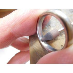 プラチナ結婚指輪(鍛造&彫金)光沢&マット ハート彫り&唐草彫り ダイヤ入り|kouki|06