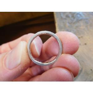 プラチナ結婚指輪(鍛造&彫金)光沢 2本を合わせると星 スターリング|kouki|05