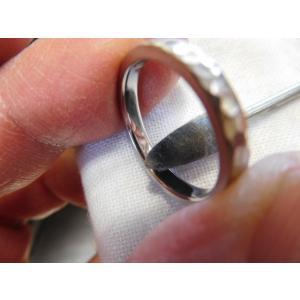 プラチナ結婚指輪(鍛造&彫金)光沢 2本を合わせると星 スターリング|kouki|06