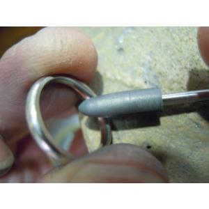 プラチナ結婚指輪(鍛造&彫金)光沢 ウェーブ彫り 波デザイン|kouki|06