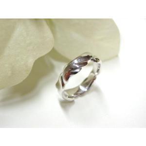 プラチナ結婚指輪(鍛造&彫金)光沢 躍動感のある翼&羽根|kouki|04