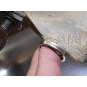 プラチナ 結婚指輪【本物の鍛造】厚みのある平打ちの側面に石、サイドストーン!光沢と艶消しのコンビが魅力的|kouki|15