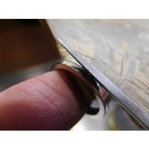 プラチナ 結婚指輪【本物の鍛造】厚みのある平打ちの側面に石、サイドストーン!光沢と艶消しのコンビが魅力的|kouki|16