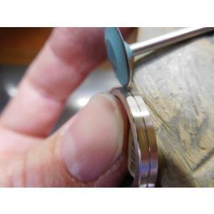 プラチナ 結婚指輪【本物の鍛造】厚みのある平打ちの側面に石、サイドストーン!光沢と艶消しのコンビが魅力的|kouki|17