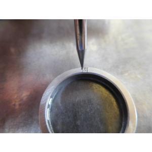 プラチナ 結婚指輪【本物の鍛造】厚みのある平打ちの側面に石、サイドストーン!光沢と艶消しのコンビが魅力的|kouki|19
