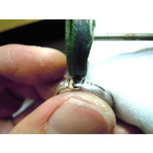 プラチナ 結婚指輪【本物の鍛造】艶消しをメインにした丸い甲丸デザイン!ワンポイントに光るダイヤとライン|kouki|21