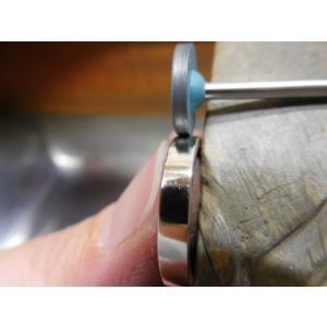 プラチナ結婚指輪(鍛造&彫金)光沢&艶消しコンビ 丸くて優しい三角形 kouki 05