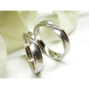 プラチナ結婚指輪(鍛造&彫金)光沢&マット 内甲丸 メビウス&インフィニティ kouki 05