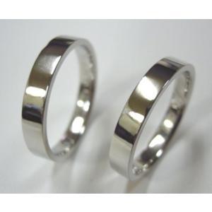 プラチナ結婚指輪(鍛造&彫金)光沢 シンプル平打ち フラット&ストレート|kouki|05