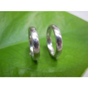 プラチナ結婚指輪(鍛造&彫金)荒仕上げ&荒削り シンプルでストレートの甲丸|kouki|05