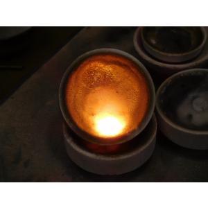 プラチナ結婚指輪(鍛造&彫金)光沢 甲丸リングにハート彫り&桜打出し|kouki|06