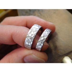 結婚指輪(鍛造&彫金)激レア限定製造【桜】結婚指輪&婚約指輪 最高級ダイヤ|kouki|04