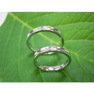 プラチナ結婚指輪(鍛造&彫金)光沢 内甲丸&逆甲丸|kouki|03