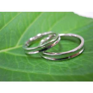 プラチナ結婚指輪(鍛造&彫金)光沢 内甲丸&逆甲丸|kouki|05