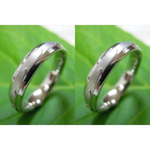 プラチナ結婚指輪(鍛造&彫金)光沢&マット 矢絣 やがすり(矢羽根柄)|kouki