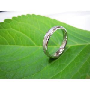 プラチナ結婚指輪(鍛造&彫金)光沢&マット 矢絣 やがすり(矢羽根柄)|kouki|05
