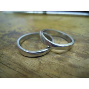 プラチナ 結婚指輪【本物の鍛造】プラチナの荒仕上げ&緩やかなV字リングにVラインが優しい!|kouki|21