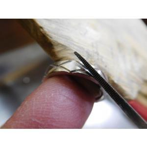 プラチナ 結婚指輪【本物の鍛造】光沢の平打ちリングに日本伝統模様の格子柄!格子模様が一周入ります kouki 12