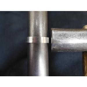 プラチナ 結婚指輪【本物の鍛造】光沢の平打ちリングに日本伝統模様の格子柄!格子模様が一周入ります kouki 17
