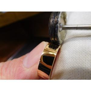 プラチナ結婚指輪(鍛造&彫金)艶消し ブラックダイヤ&ハーフエタニティリング|kouki|03