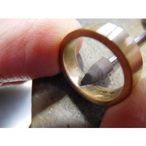 プラチナ結婚指輪(鍛造&彫金)艶消し ブラックダイヤ&ハーフエタニティリング|kouki|04