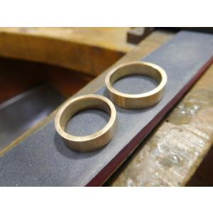 プラチナ結婚指輪(鍛造&彫金)艶消し ブラックダイヤ&ハーフエタニティリング|kouki|05