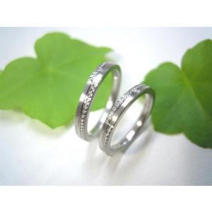 プラチナ結婚指輪(鍛造&彫金)荒仕上げ&荒削り 交互にミル打ち|kouki