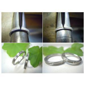 プラチナ結婚指輪(鍛造&彫金)荒仕上げ&荒削り 交互にミル打ち|kouki|05