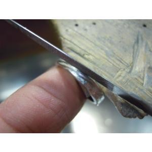 プラチナ 結婚指輪【本物の鍛造】打ち出した槌目模様にズバッ!と斜めのミル打ちラインが切れ込む!|kouki|19
