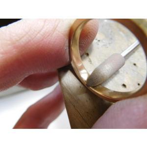 プラチナ結婚指輪(鍛造&彫金)光沢&マット 対角線ライン ウェーブカット|kouki|05