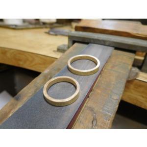プラチナ結婚指輪(鍛造&彫金)光沢&マット 対角線ライン ウェーブカット|kouki|06
