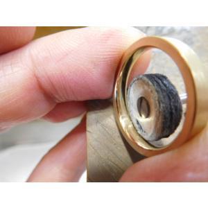 ゴールド 結婚指輪【本物の鍛造】浅めの槌目が繊細で美しい!シンプルな艶消し平打ちデザイン kouki 16