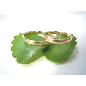 ゴールド結婚指輪(鍛造&彫金)荒仕上げ&荒削り シンプルな甲丸リング|kouki|03