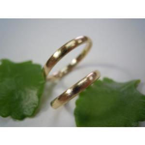 ゴールド結婚指輪(鍛造&彫金)荒仕上げ&荒削り シンプルな甲丸リング|kouki|04